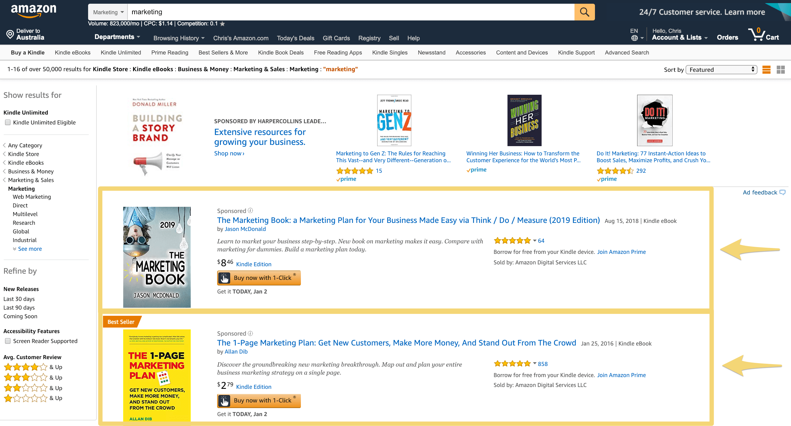 amazon sponsored products ads image