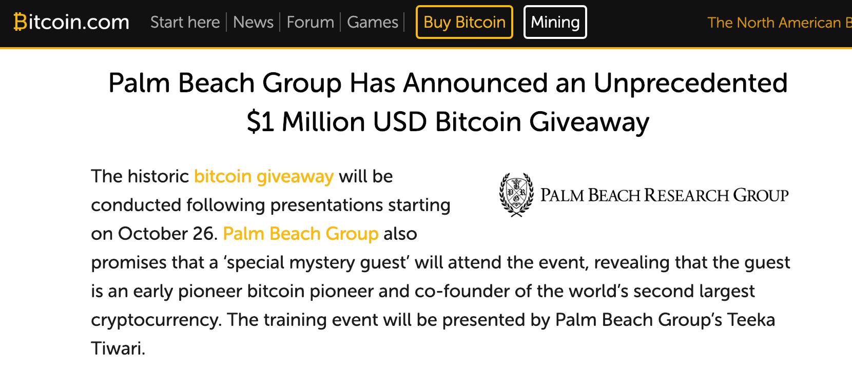 bitcoin press release image
