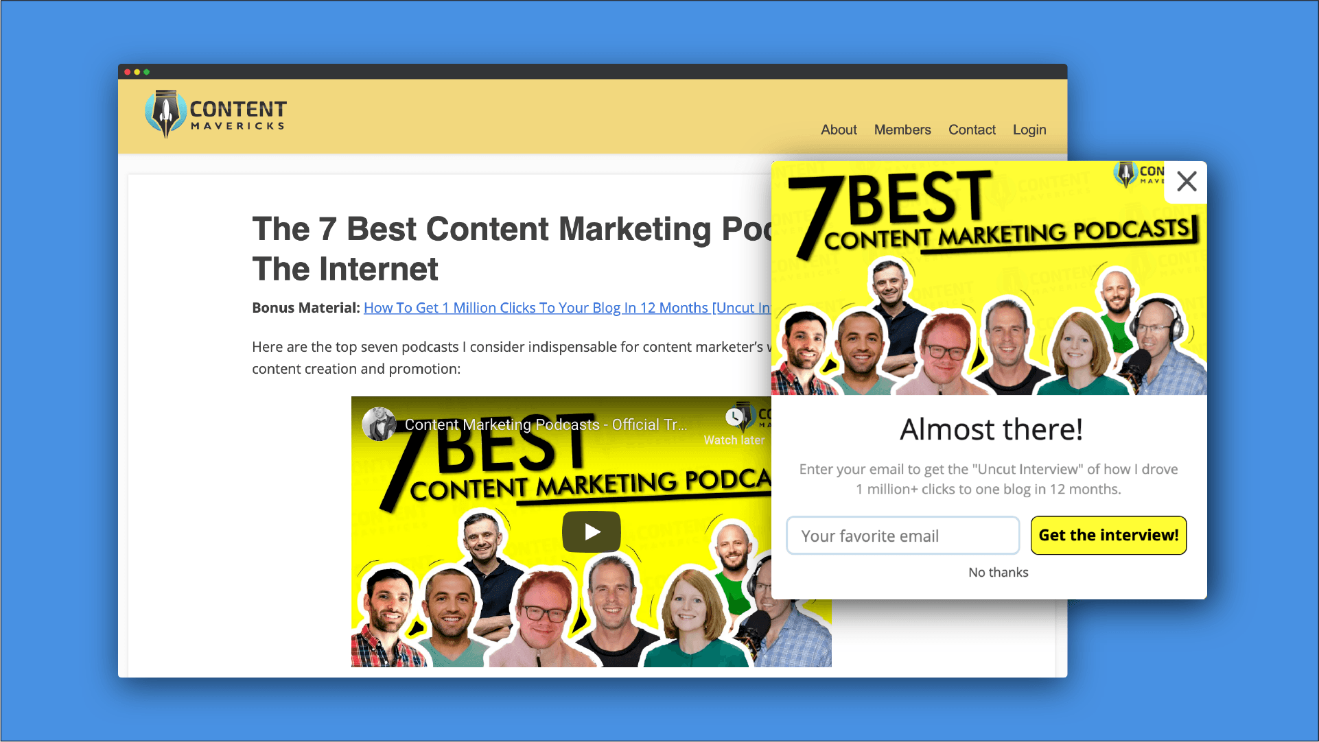 content marketing podcasts mockup image