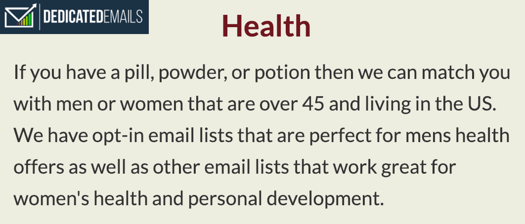 dedicated emails health image