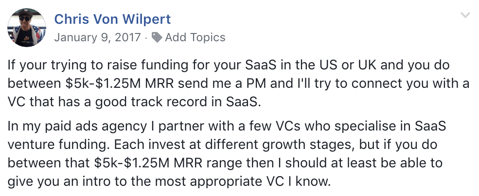 facebook vc funding post image