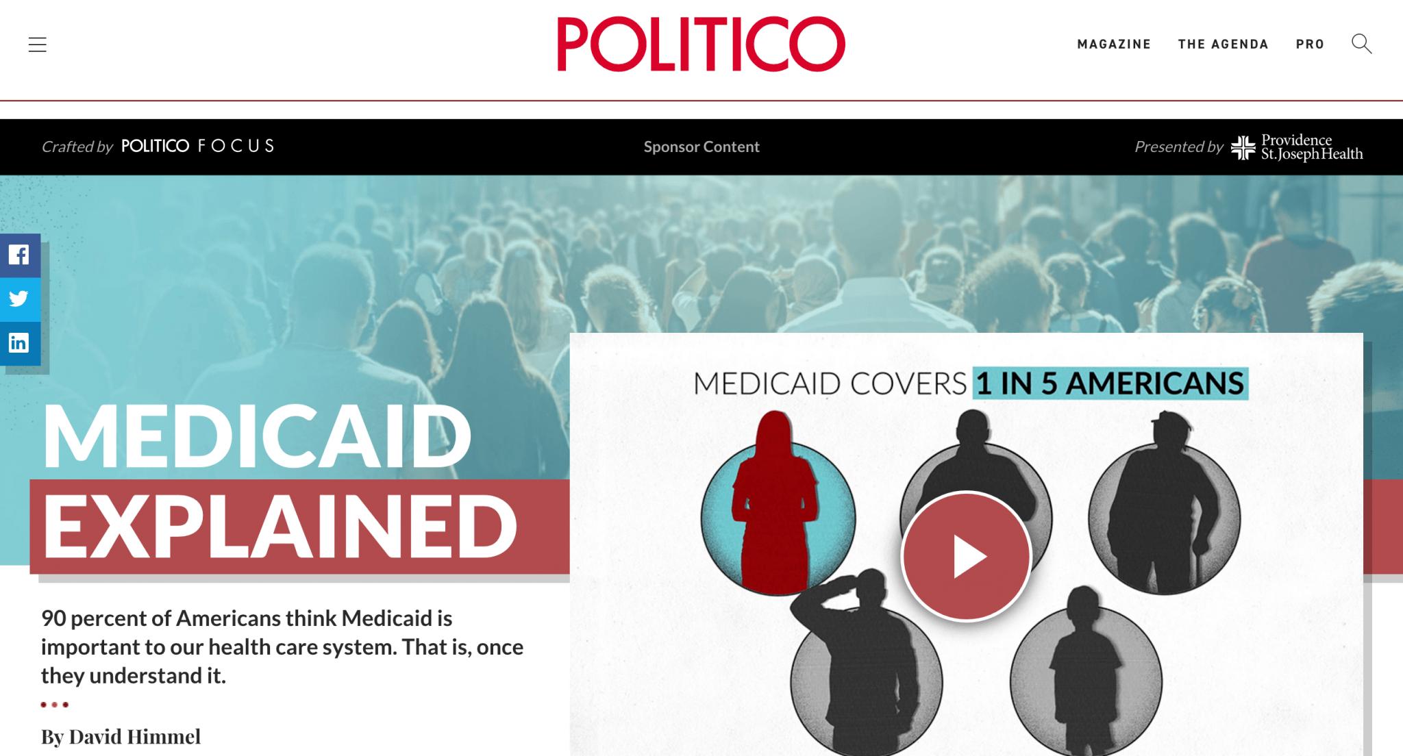 politico focus sponsored content image