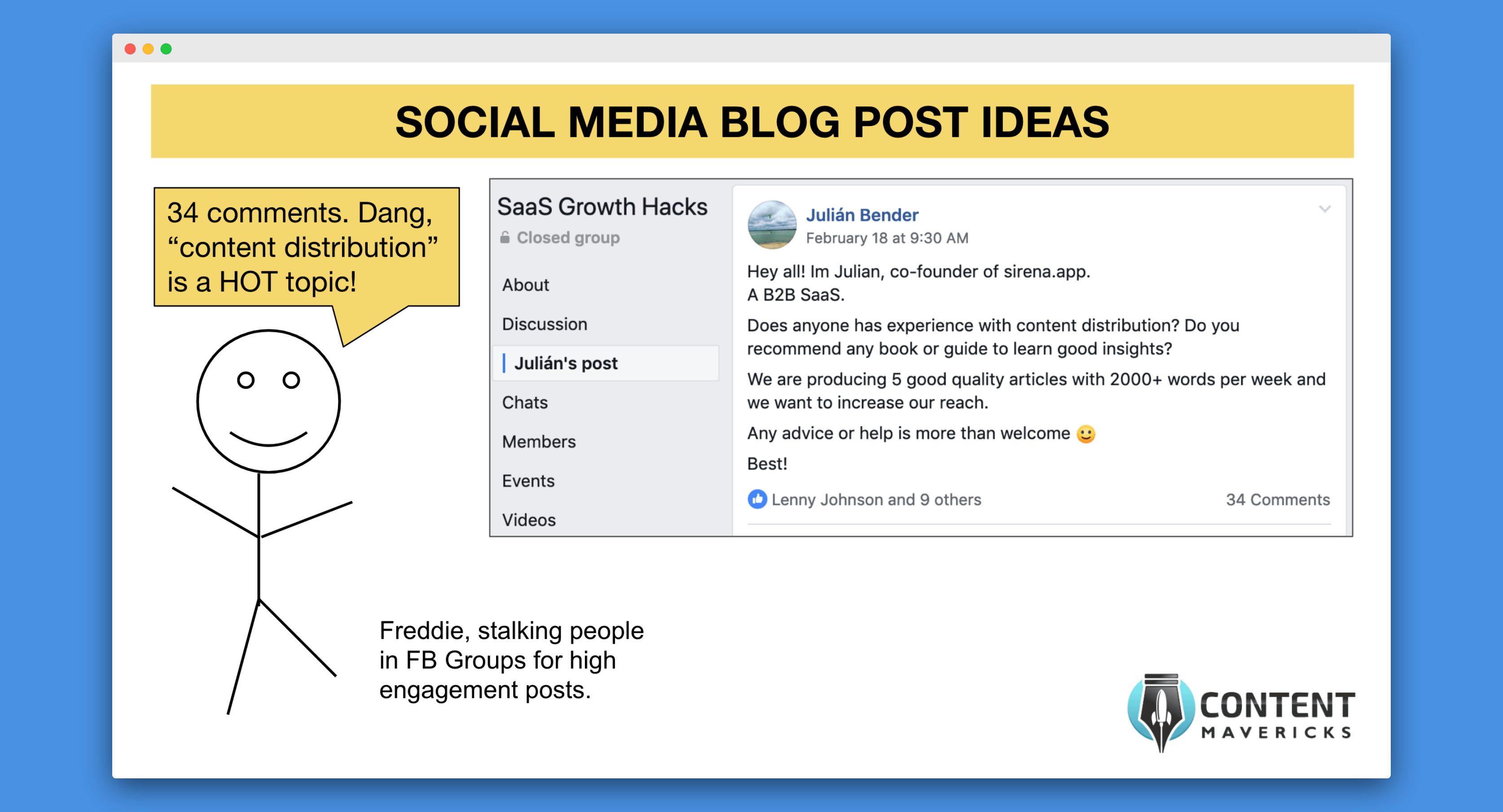 social media blog post ideas image