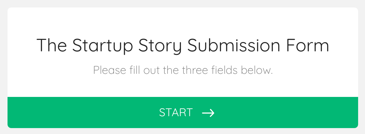 the startup submission form image