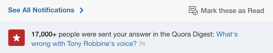 tony robbins quora digest notification image
