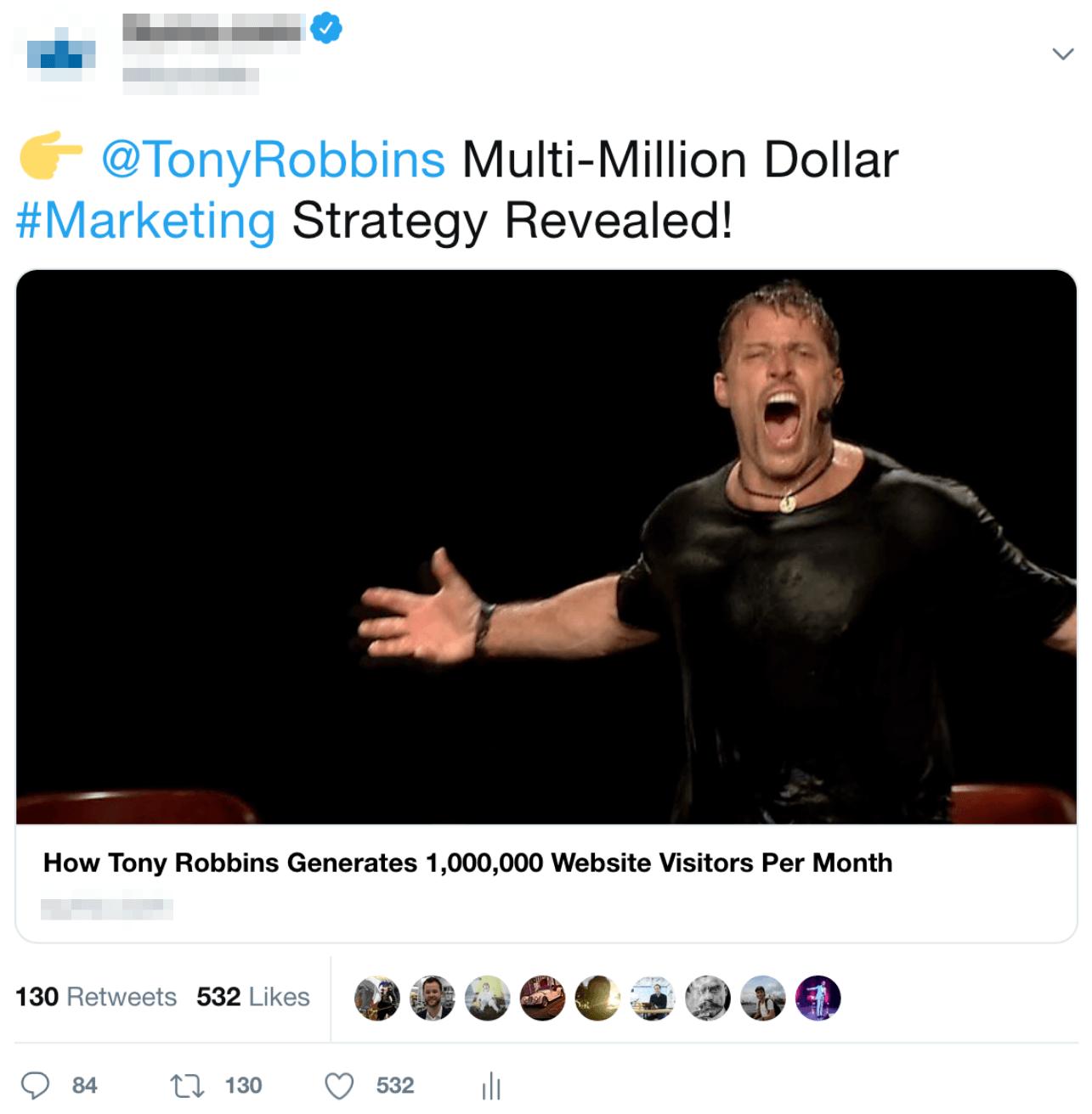 tony robbins twitter ad