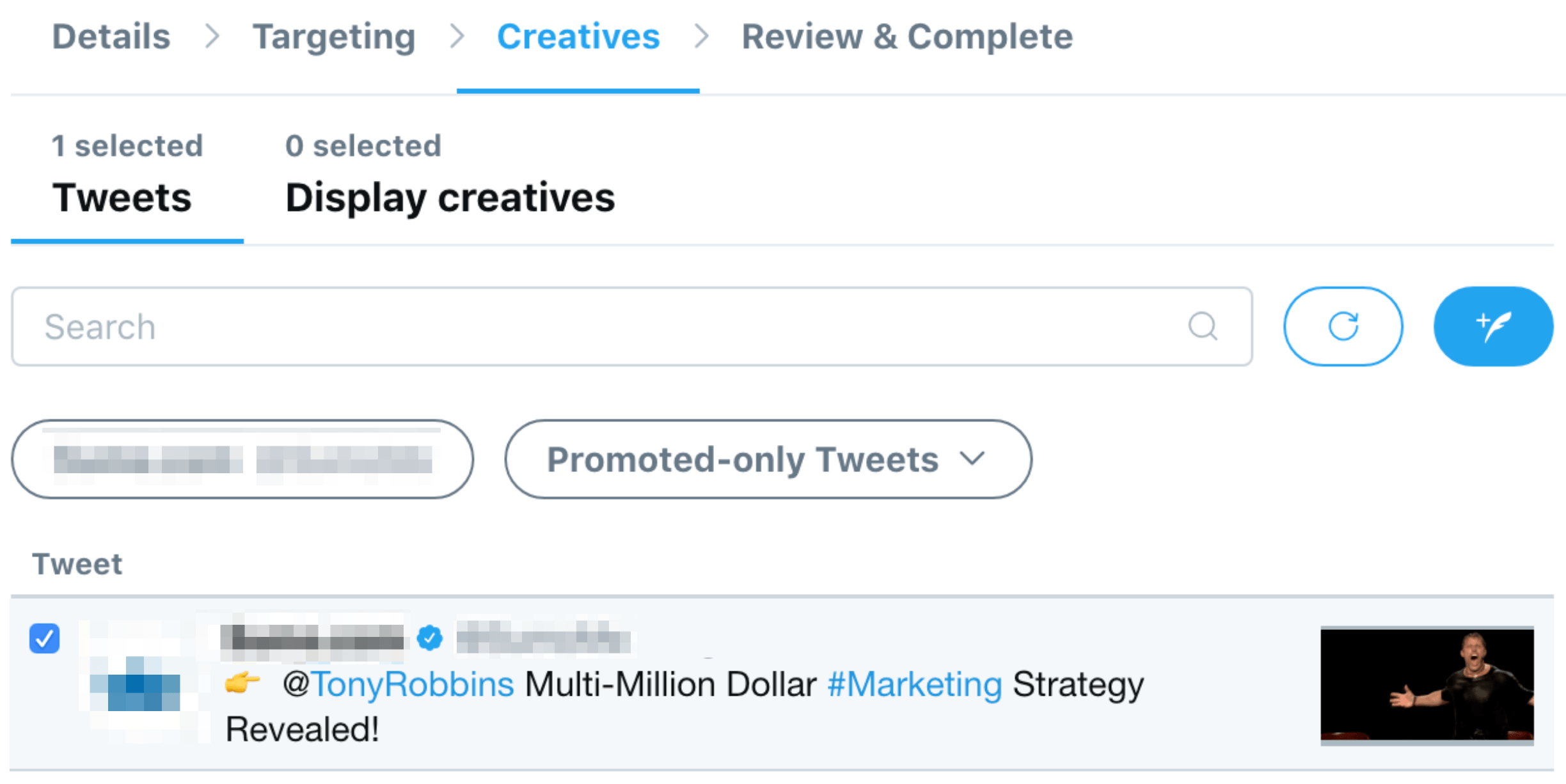 twitter ads use existing post image