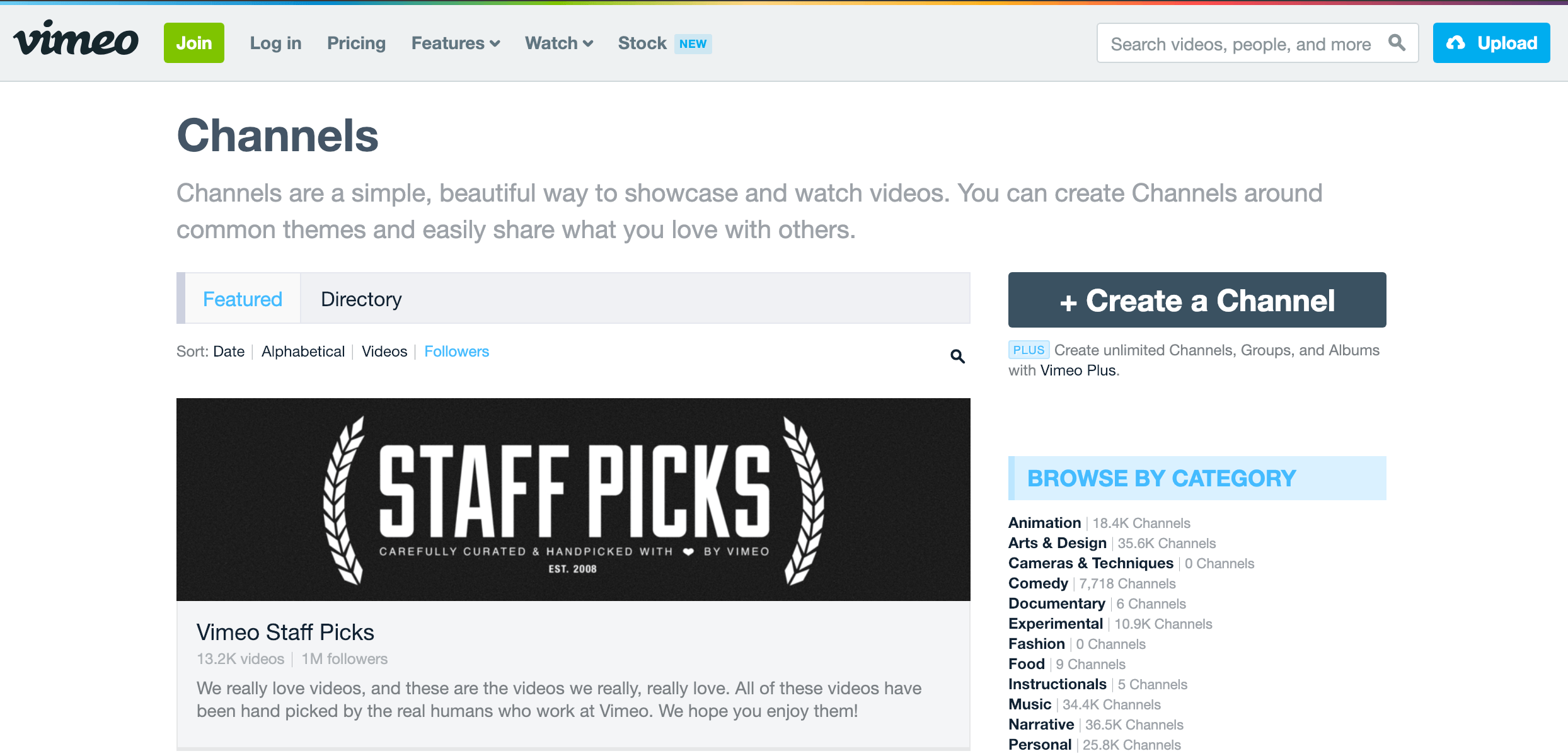 vimeo channels image