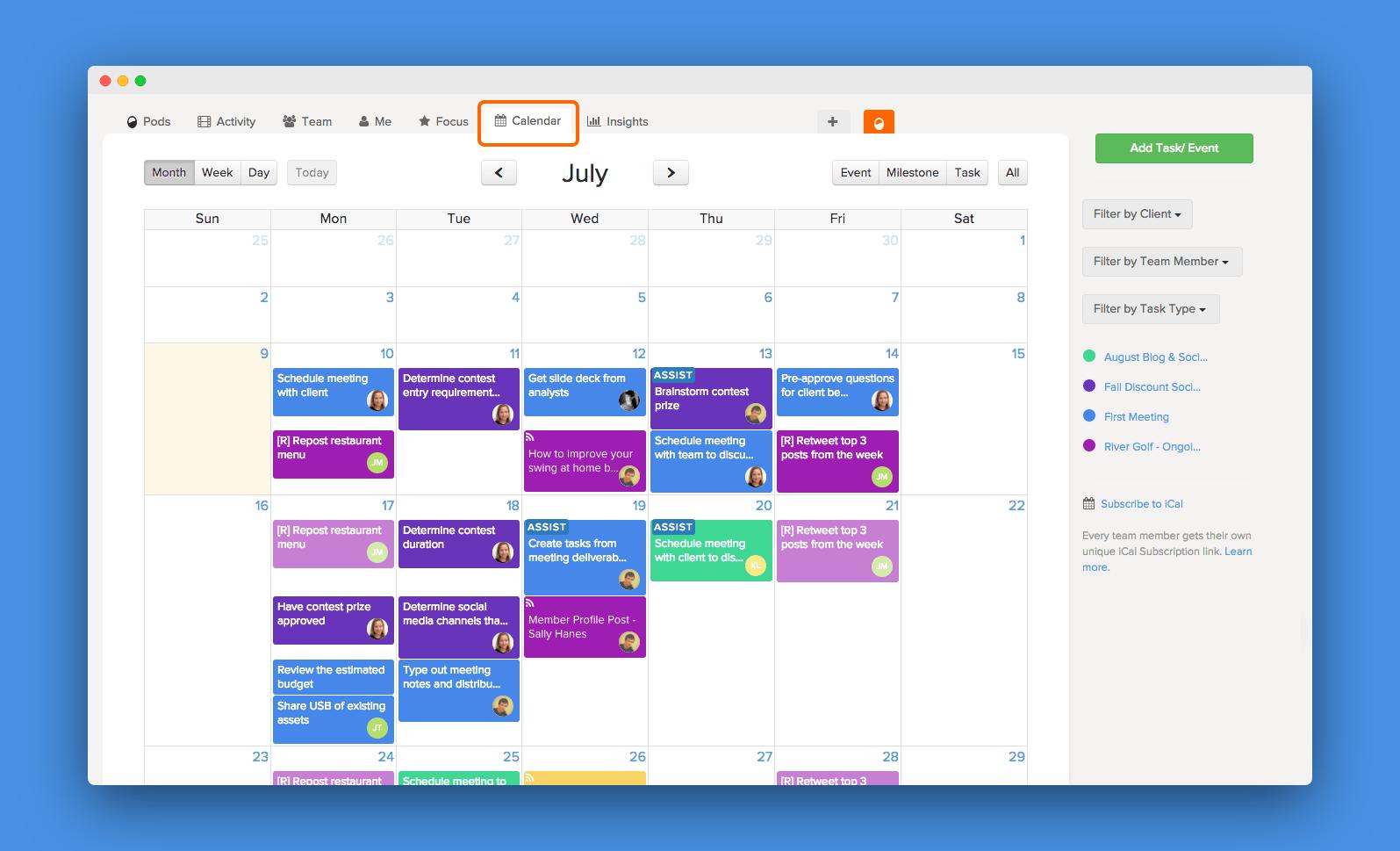 brightpod editorial calendar