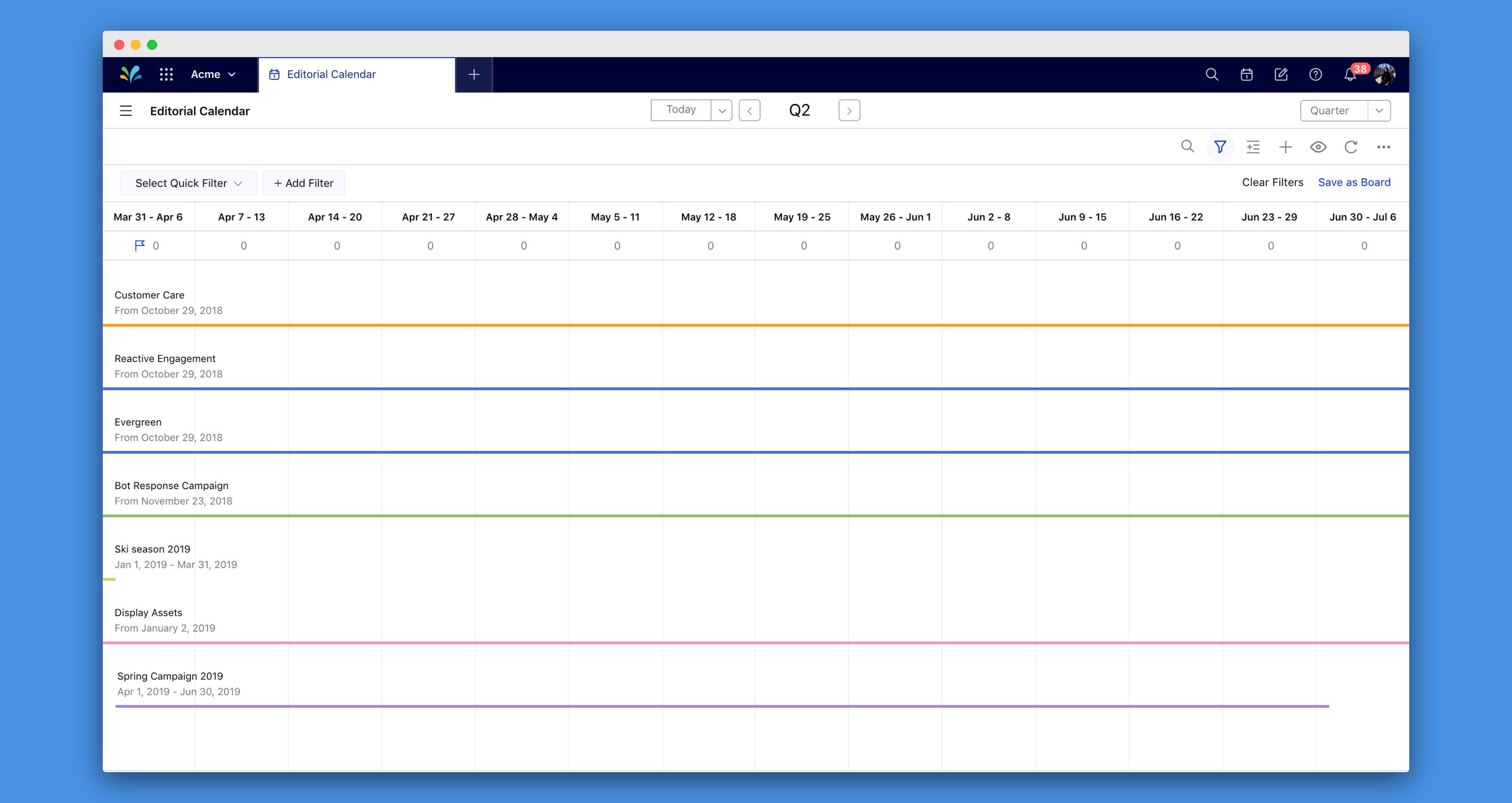 sprinklr editorial calendar