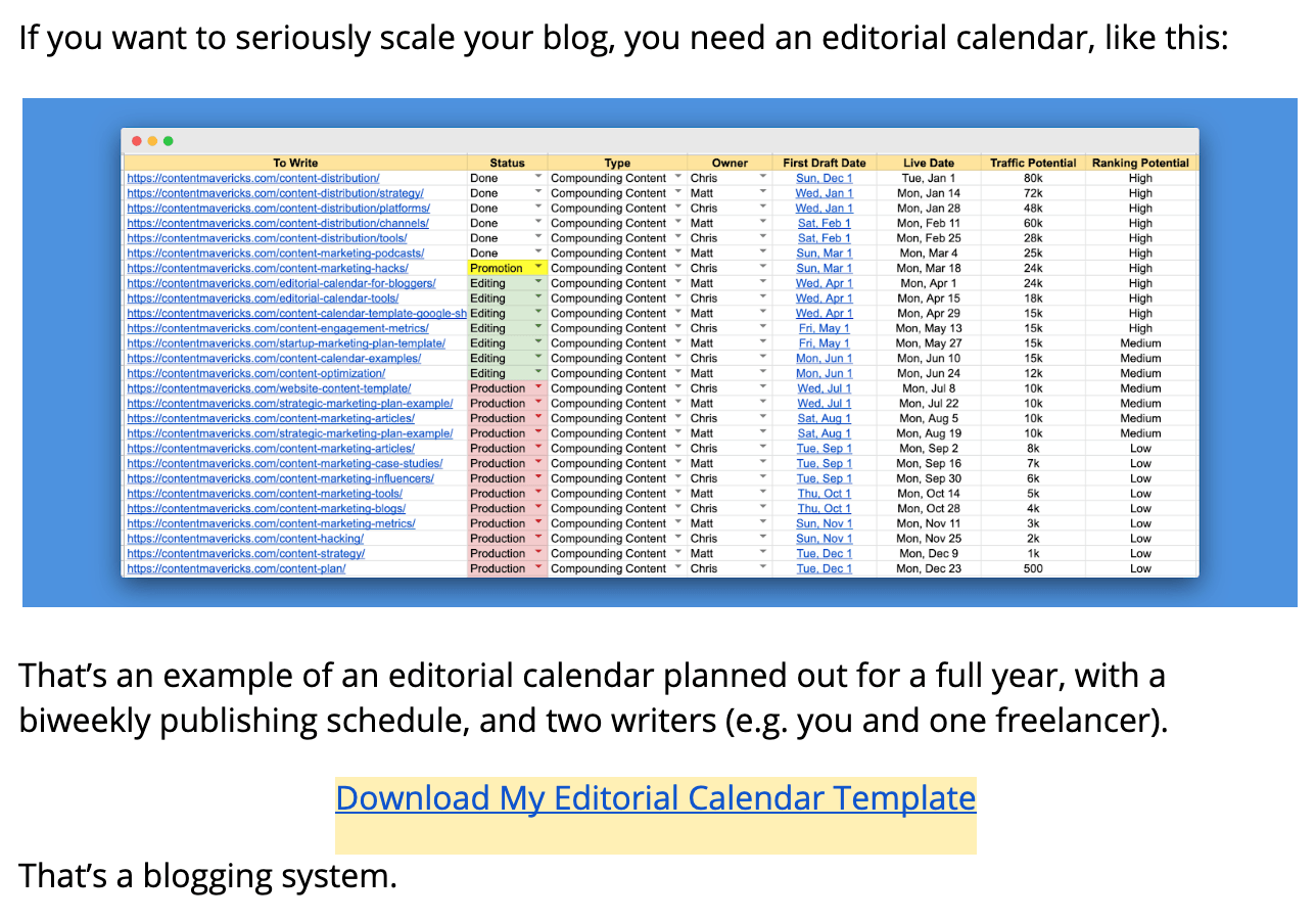 editorial calendar template image