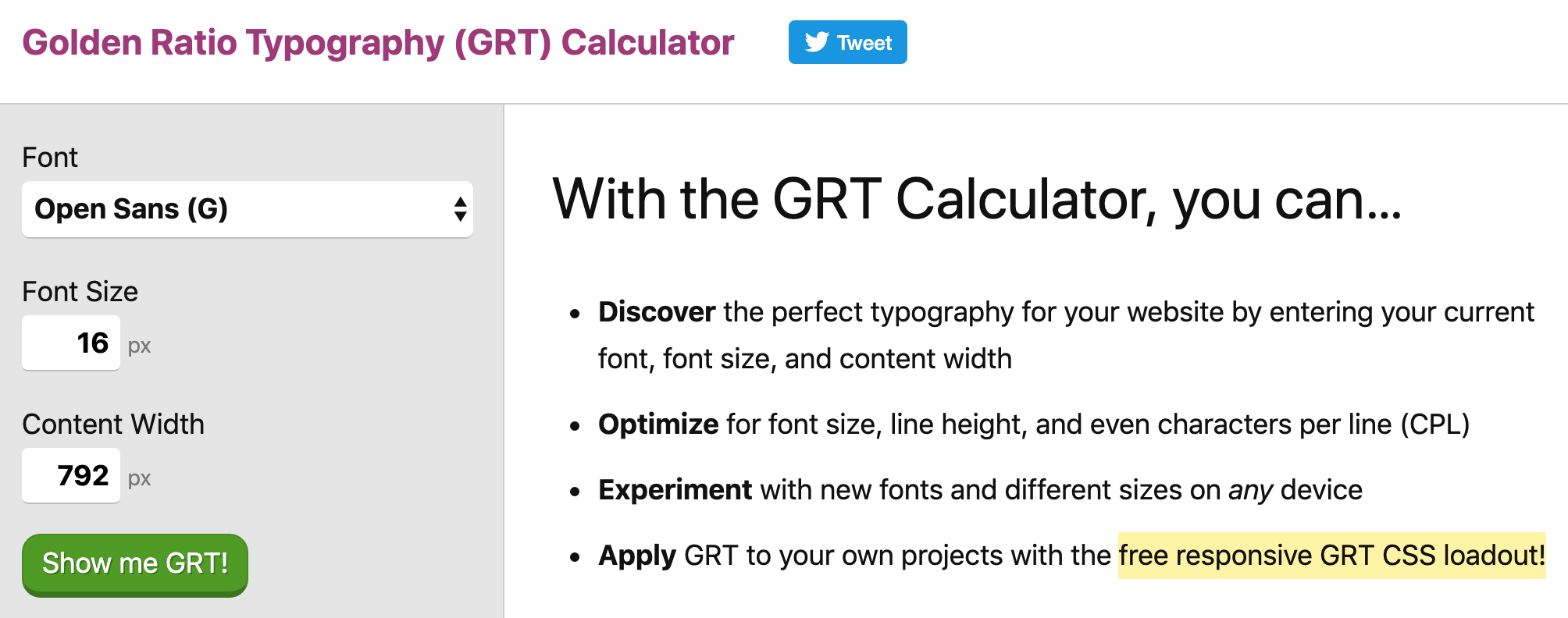 golden ratio typography calculator image