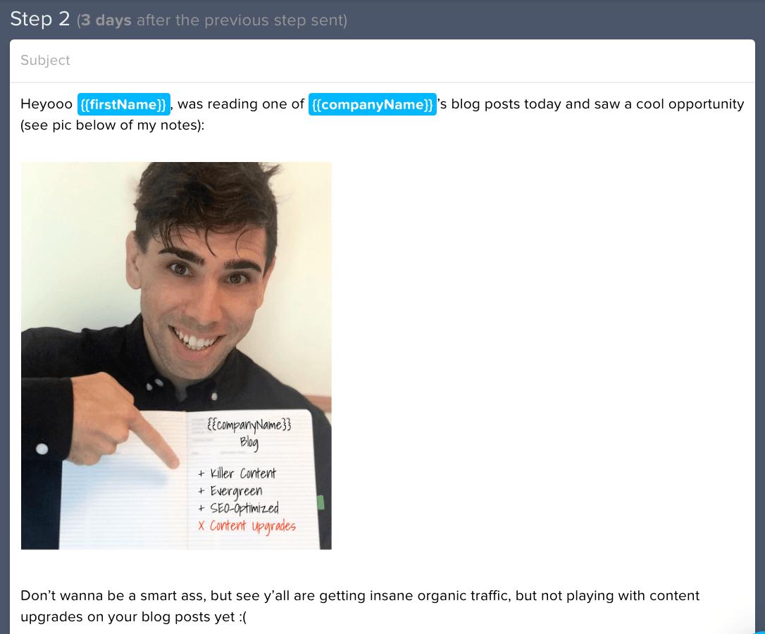 lemlist email 2 notebook image