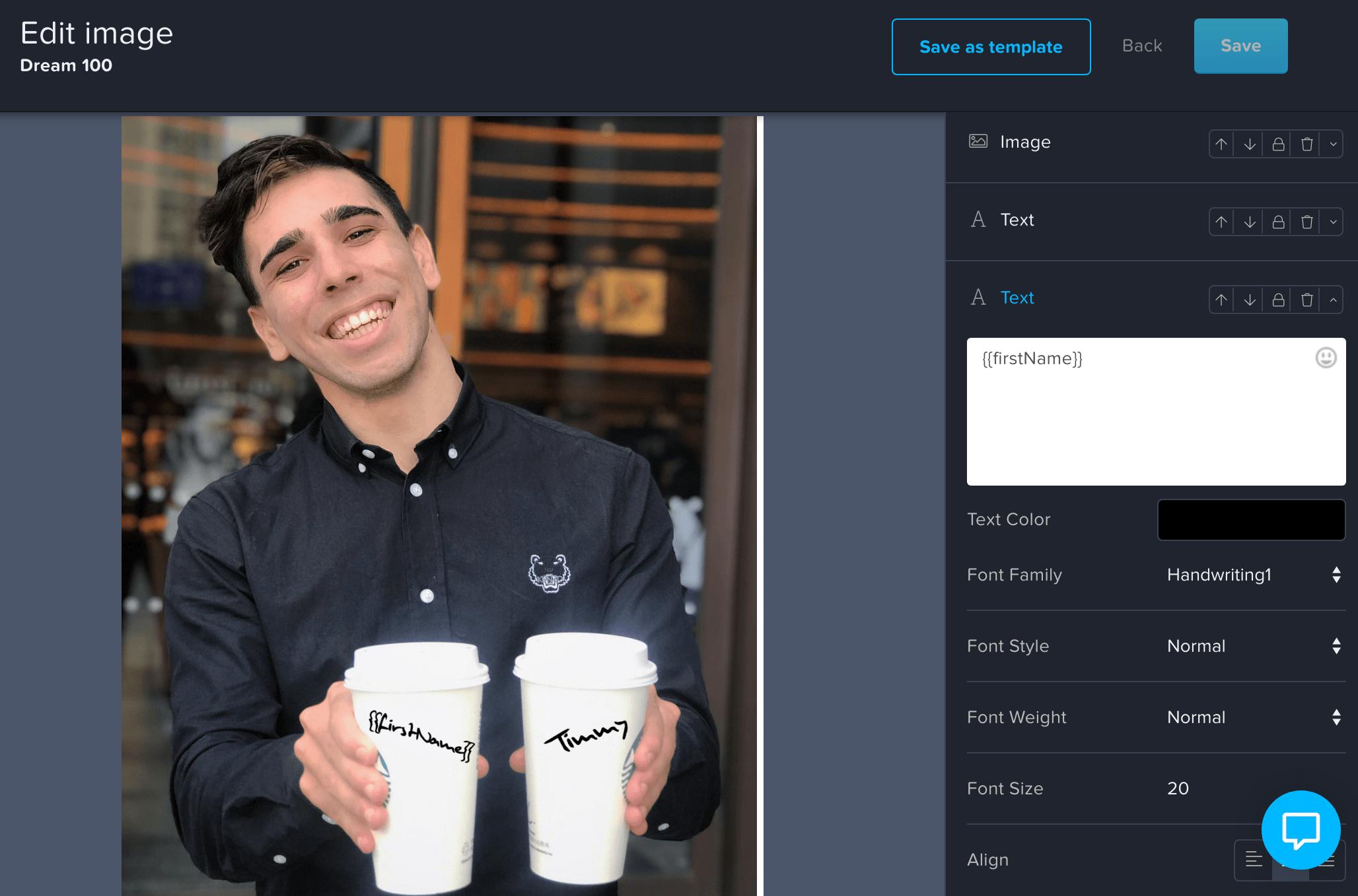 starbucks personalized image