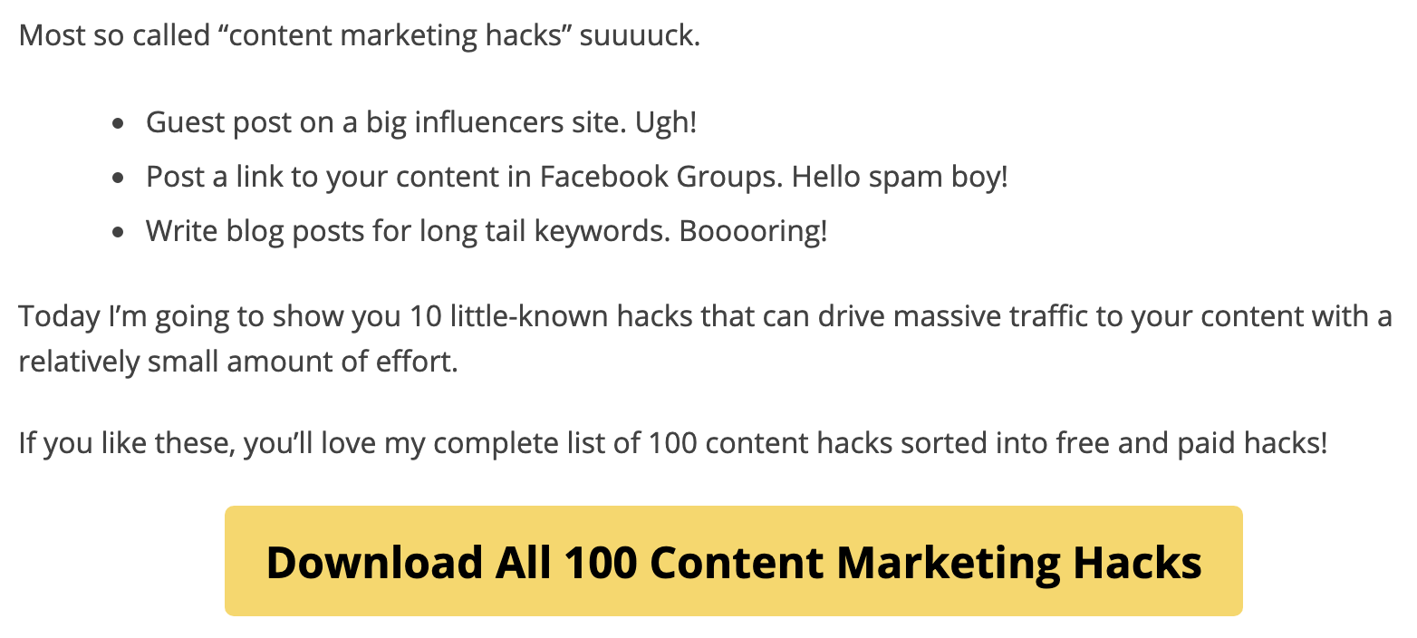 content marketing hacks intro image