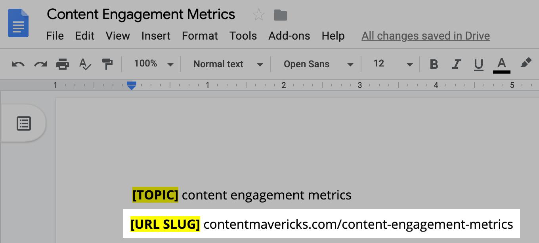 url slug image