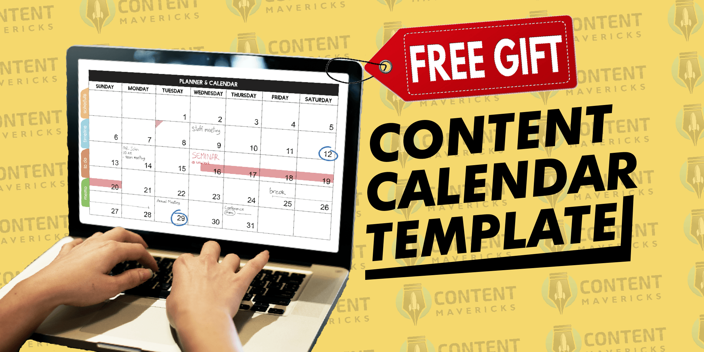 content calendar template featured image