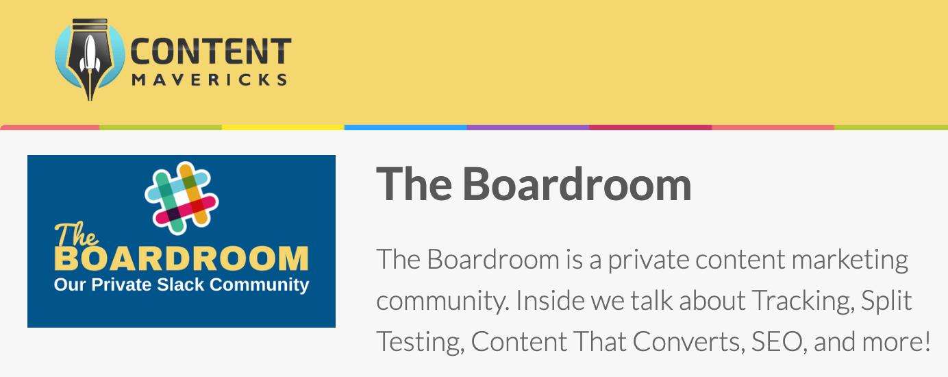 content mavericks boardroom image