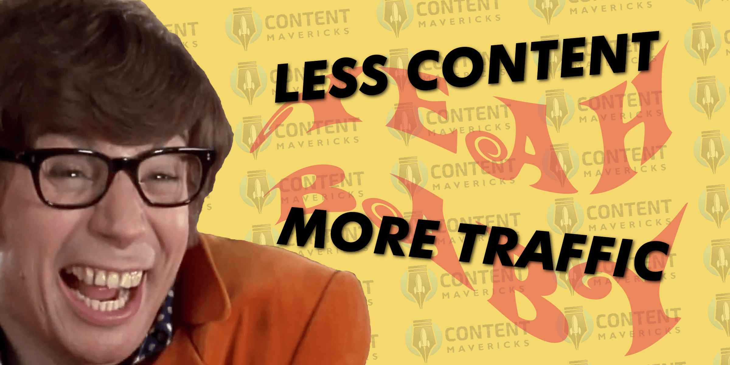 more traffic less content