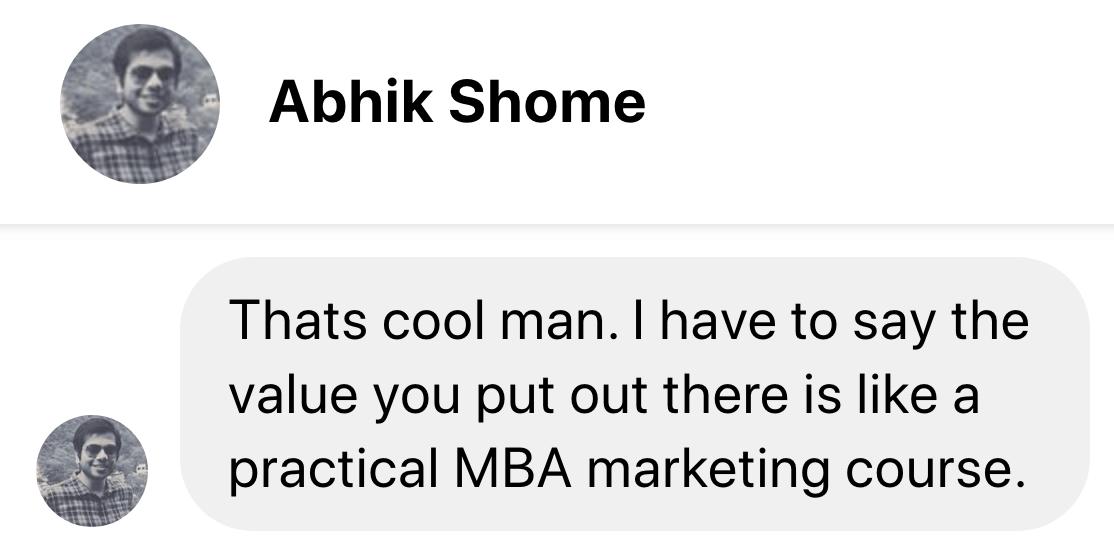 testimonial abhik shome image
