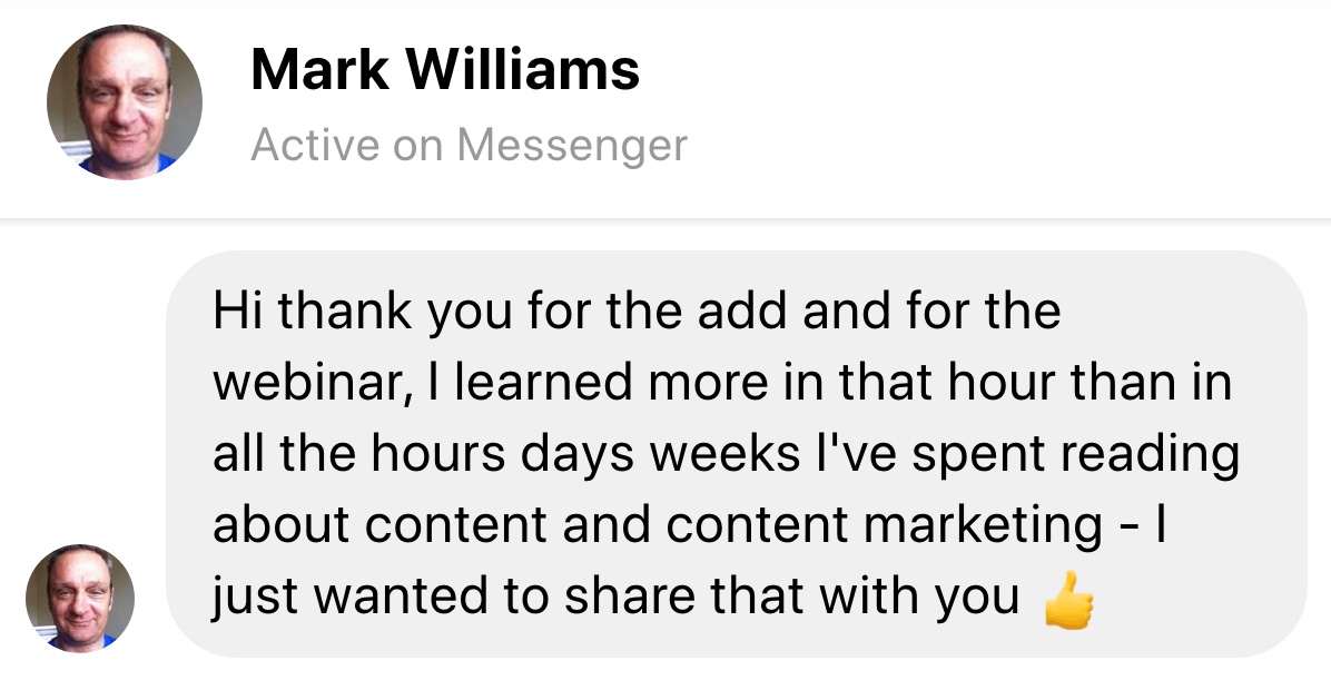 testimonial mark williams image
