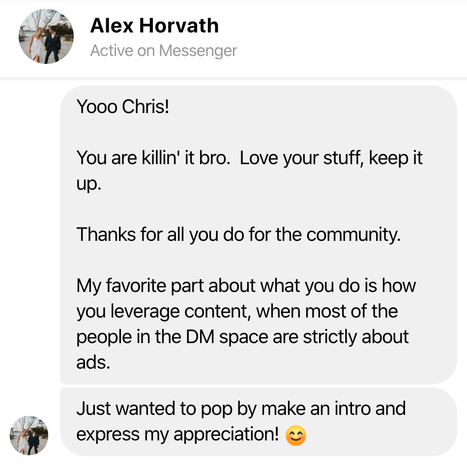 testimonial alex horvath