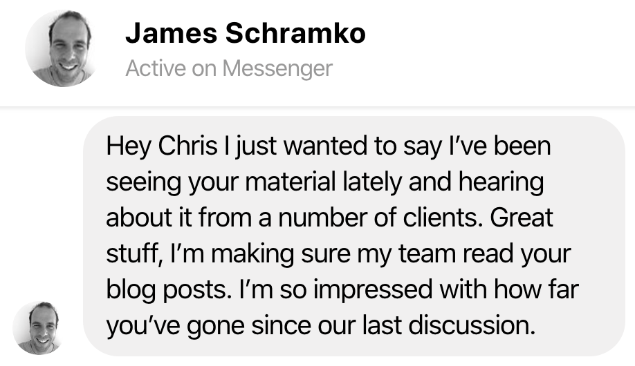 testimonial james schramko