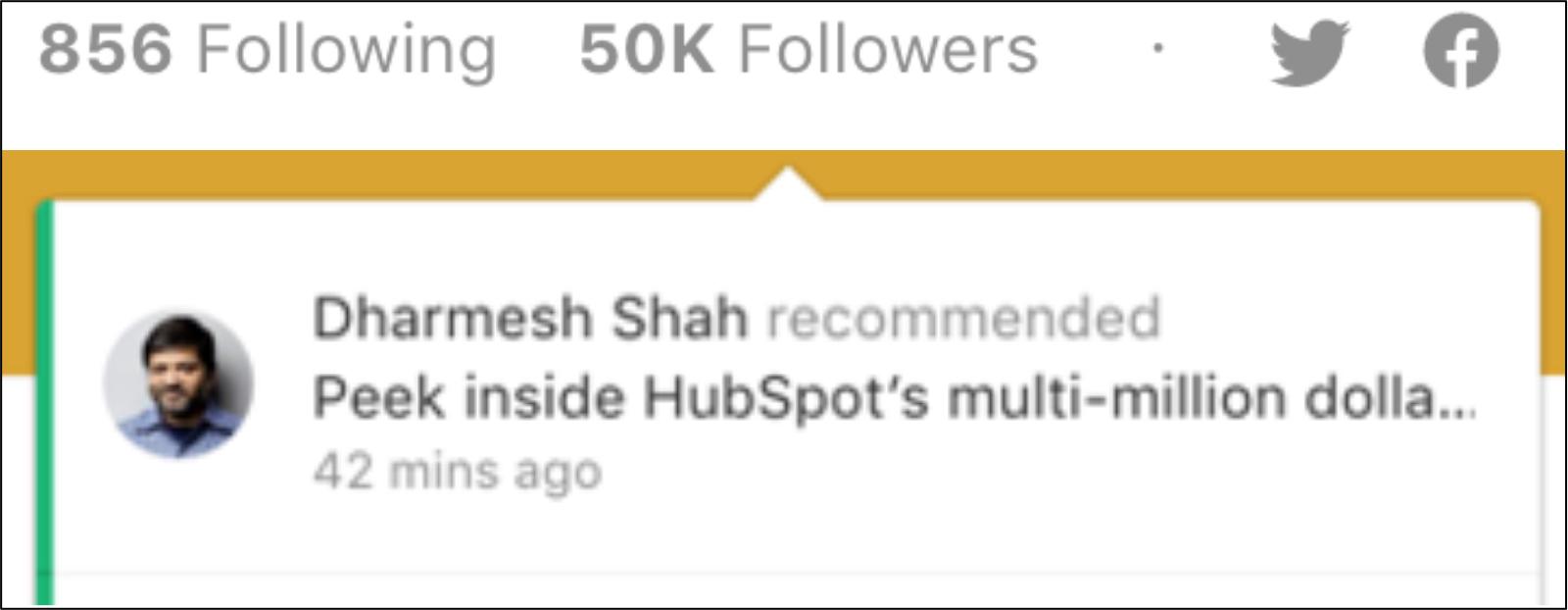 dharmesh shah medium share