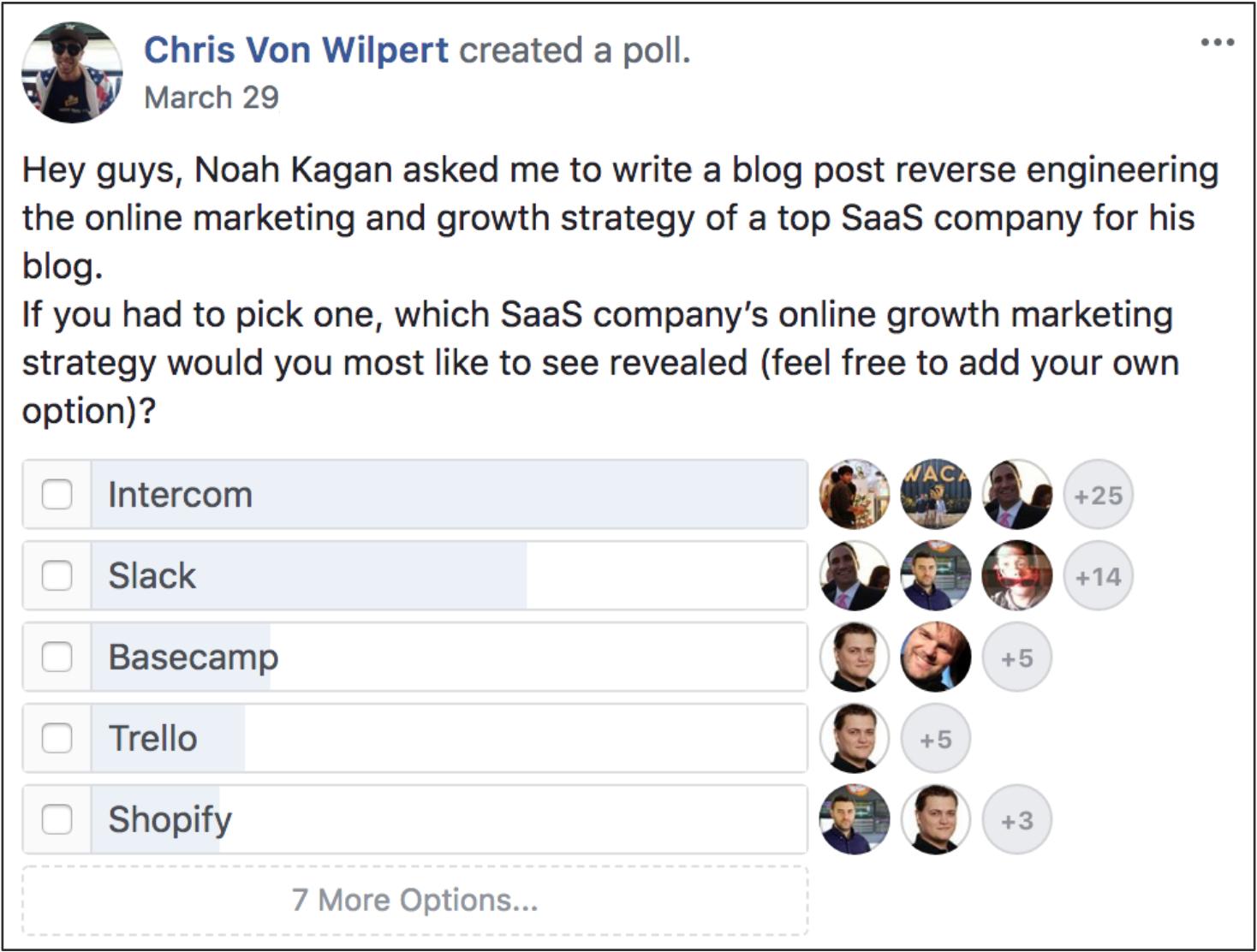 facebook poll blog post topic