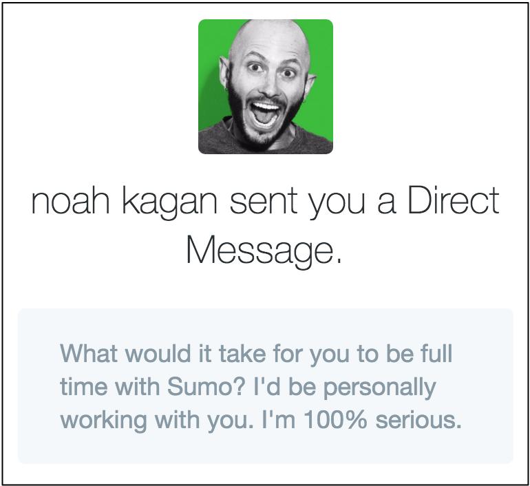 noah kagan twitter direct message